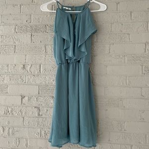 Maurices Blue Ruffle Dress